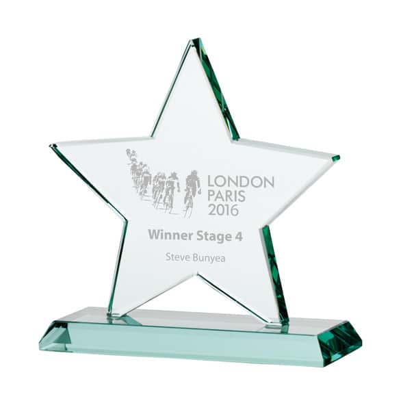 Jade Galaxy Star Crystal Award