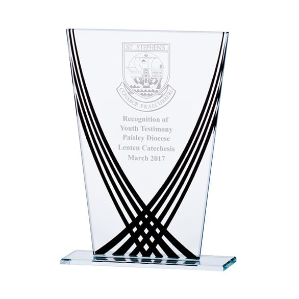 Aztec Edge Glass Award Black 1