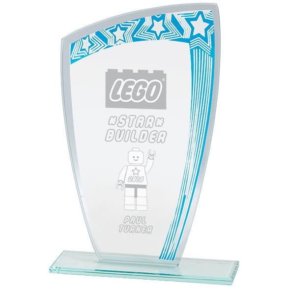 Galaxy Mirror Glass Award Blue & Silver 1