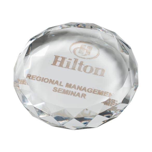 York Optical Crystal Paperweight