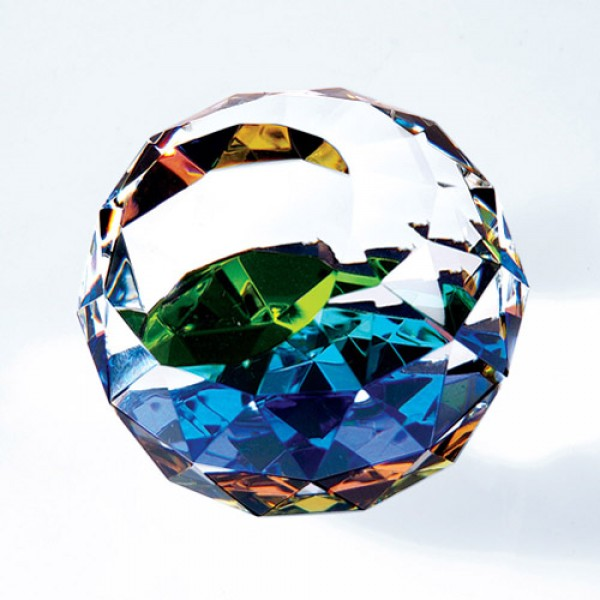 Colour gem-cut round