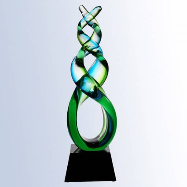 Green double helix with Black crystal base