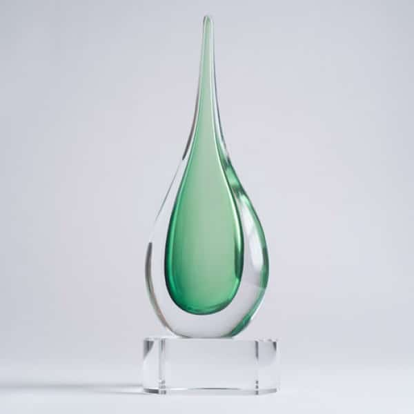 Emerald Teardrop on base small