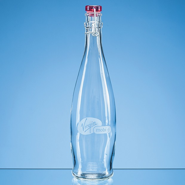 1ltr Round Red Cap Swing Top Bottle
