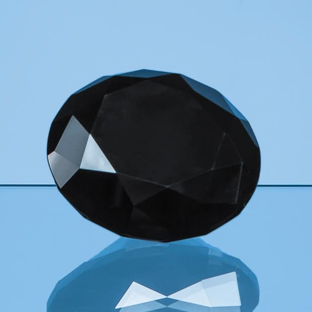 6cm Onyx Black Diamond Paperweight