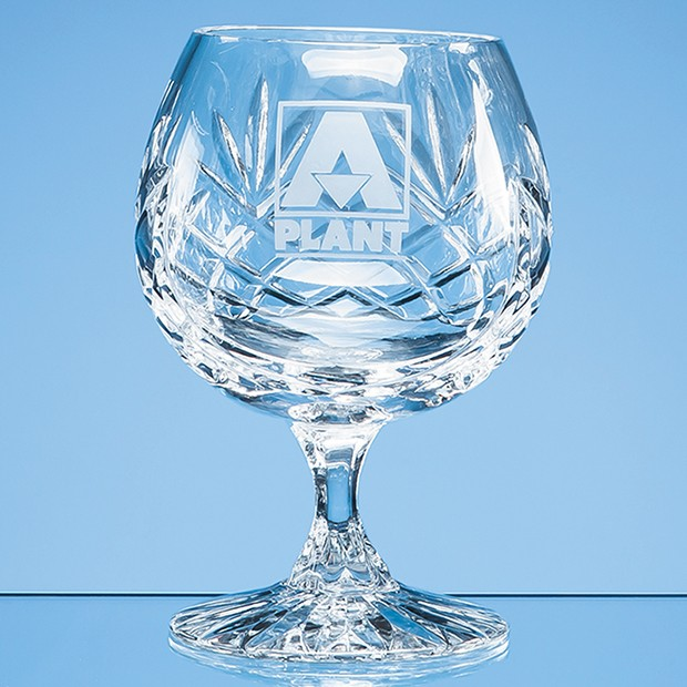 280ml Glencoe Lead Crystal Panel Brandy Glass