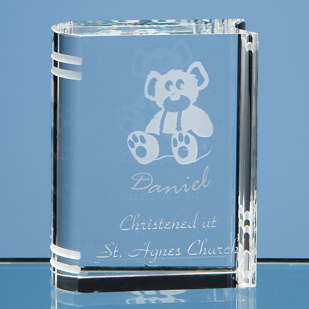 6cm Optical Crystal Miniature Book