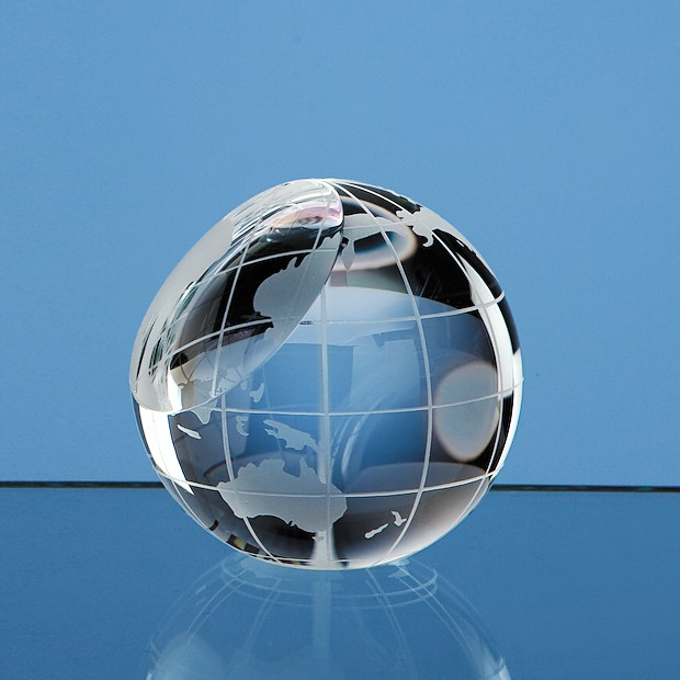 6cm Optical Crystal Globe Paperweight