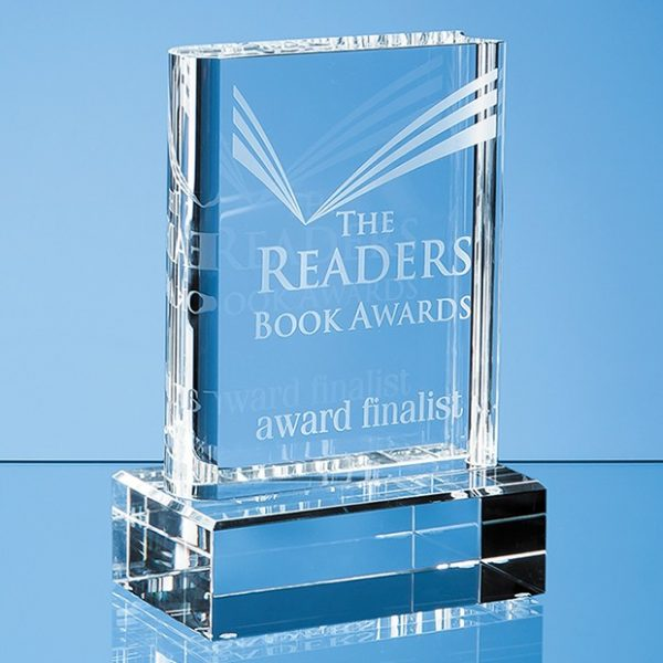 15cm Optical Crystal Book Award 1